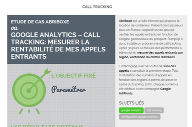 étude de cas call tracking