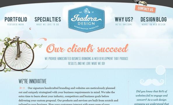 Isadora - Webdesign