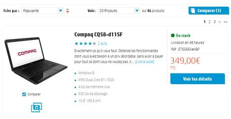 HP – Comparateur
