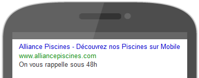 Annonce mobile adwords