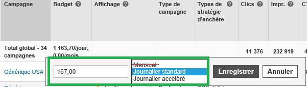 Bing Ads Fin des budgets mensuels