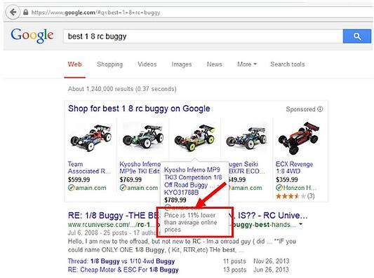 google shopping comparateur