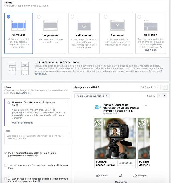 Paramétrer Facebook Ads