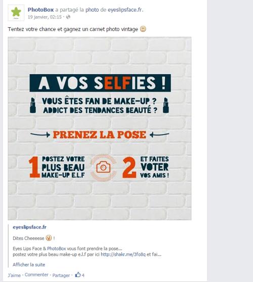 Photobox - Événement Facebook