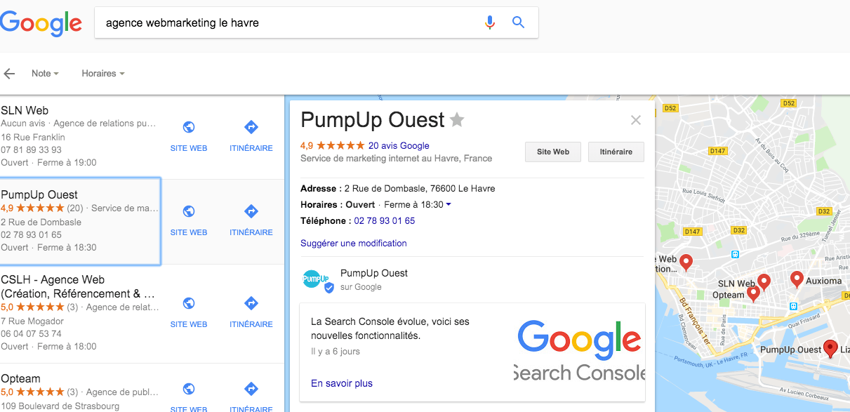 Google My Business - PumpUp Ouest Le Havre