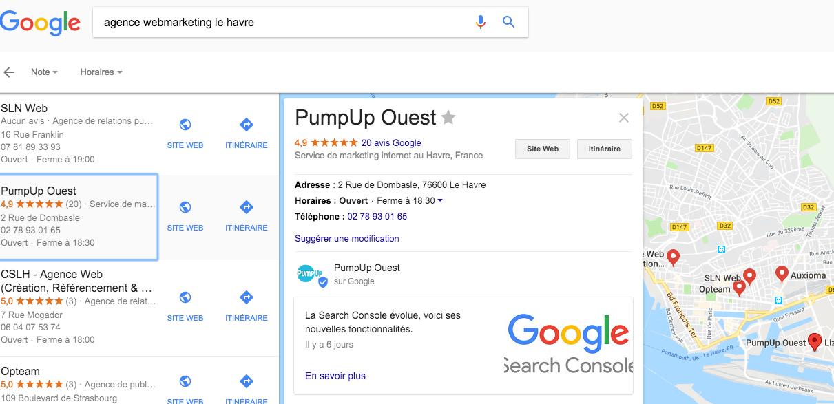 Google My Business - PumpUp Ouest Le Havre