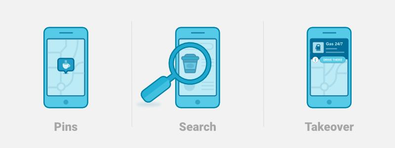 Les différents formats publicitaires sur Waze