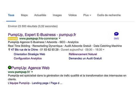 Adwords CTM Pumpup