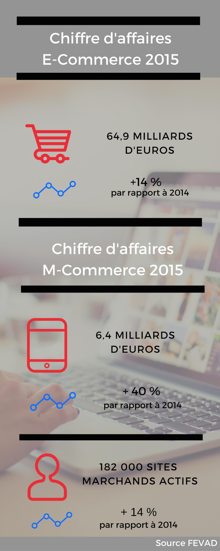 infographie chiffres e-commerce 2015