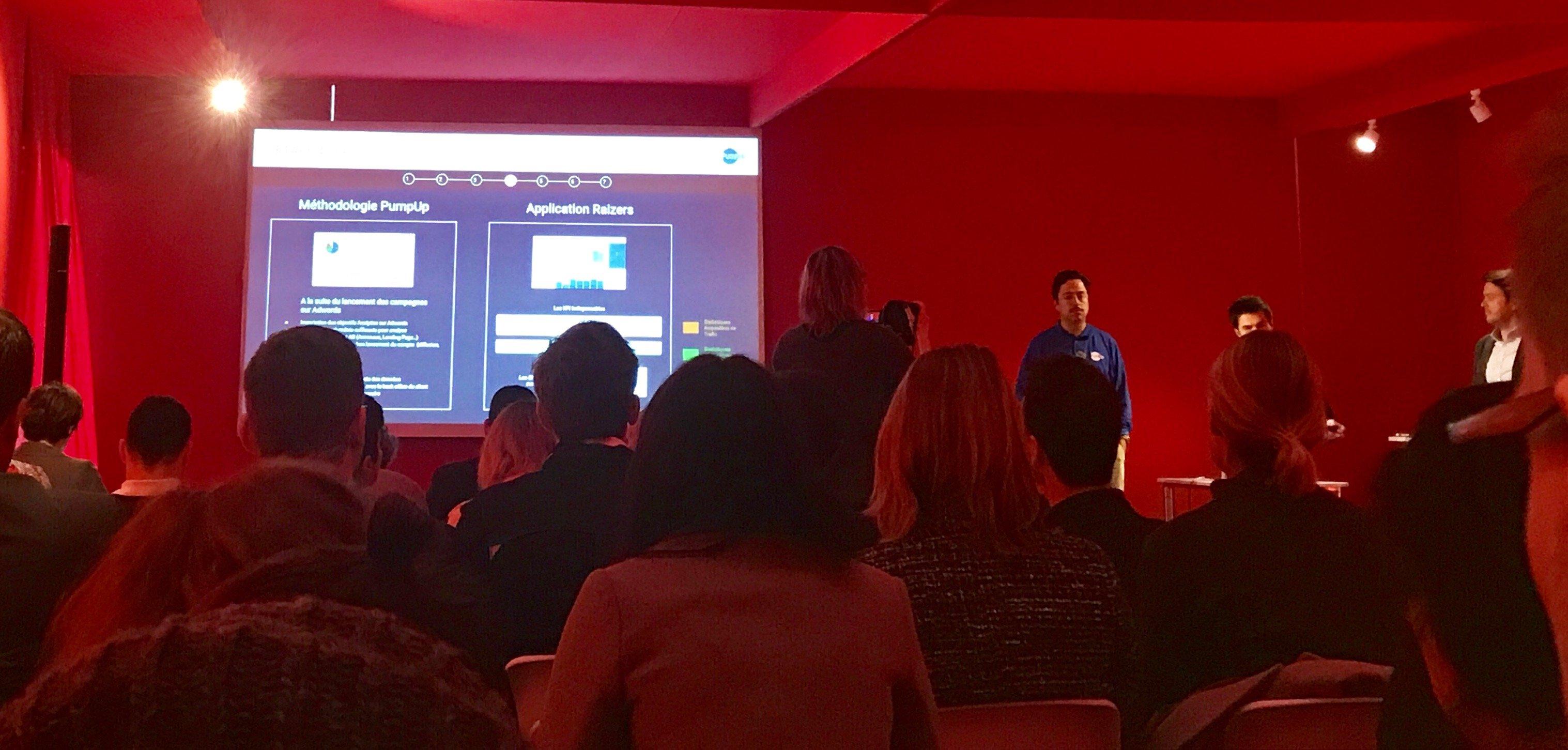la keynote PumpUp Adwords au salon E-Marketing Paris 2018