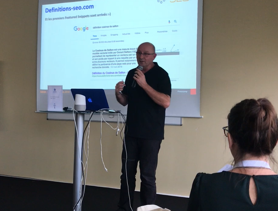 Les Featured Snippets, conférence d'Olivier Andrieu au SEO Camp'us 2018