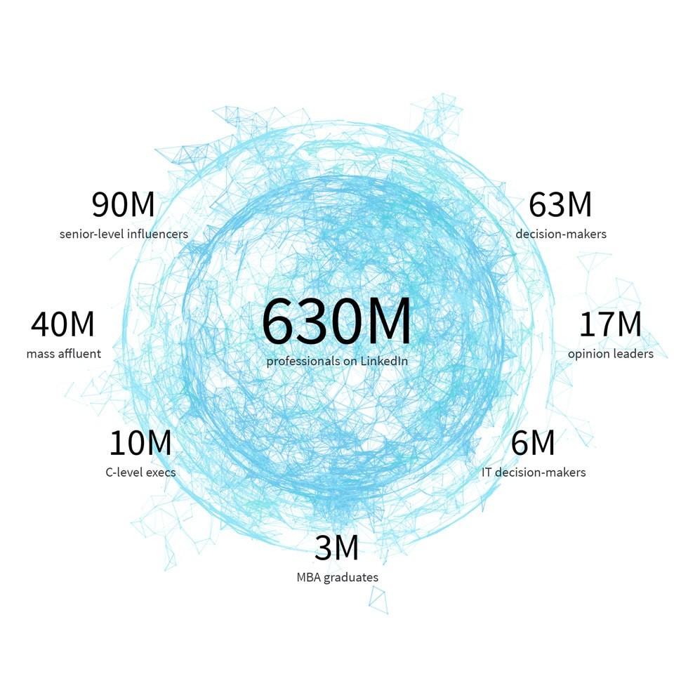 linkedin audiences publicités